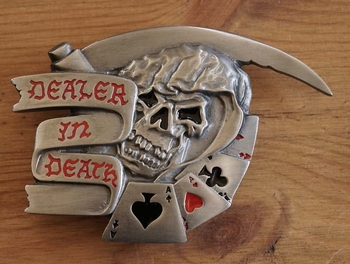 "Belt buckle  "" Dealer in death   """