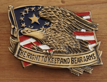 """Buckle """"  The right to keepand beafarms """""""