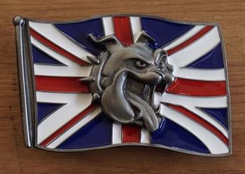 """Buckle """"  Britse vlag met bulldog kop """""""