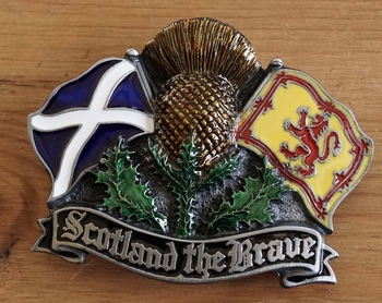 "Buckle  "" Scotland the brave """