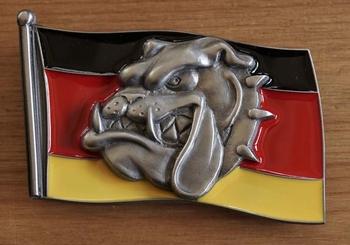 """Buckle """"  Duitse vlag met bulldog kop """""""
