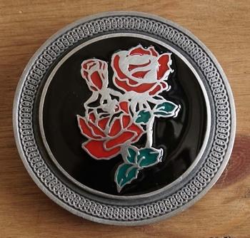 """Buckle / gesp  """" Rode roos """""""