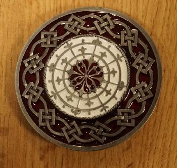 """Buckle / gesp  """" 2 Keltische knopen """""""