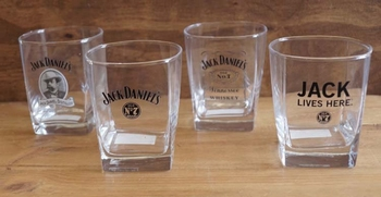 "4 Whiskeyglazen ""  Jack Daniels """