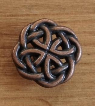 """Concho """" Keltische knoop """"  koper kleurig"""