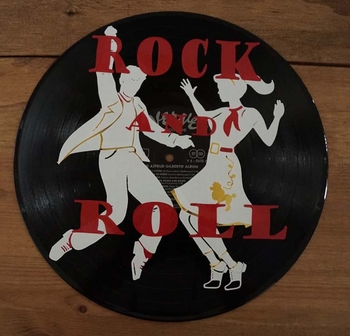 "Decoratie LP "" Rock and Roll danspaar """