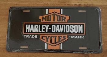 "Kentekenplaat "" Motor Harley Davidson Cylces "" trade mark"
