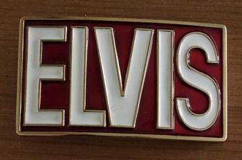 "Buckle  "" Elvis ""   rood / wit"