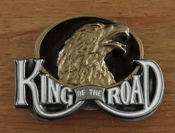 "Buckle  "" King of the Roal ""  zwart / goudkleurig"