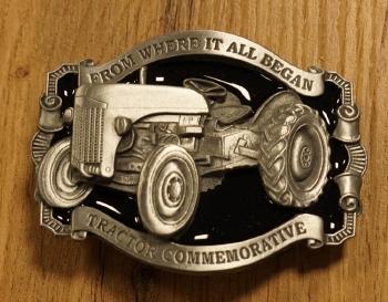 """Buckle  """" Tractor commemorative """"   blauw / zwart"""