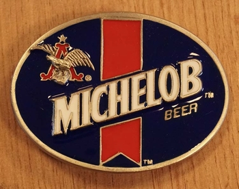 """Buckle  """" Michelob beer """" blauw / rood / wit"""