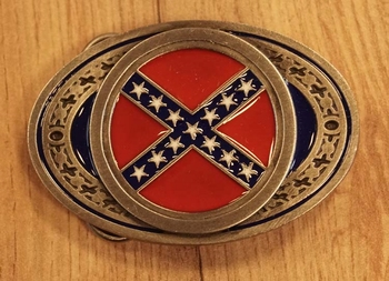 "Buckle / gesp  ""  Rebel vlag """