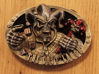 "Buckle  "" The lat laugh ""  Joker skelet"