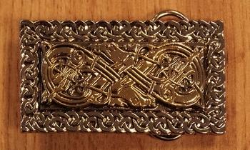 "Belt buckle  "" Celtic dogs """