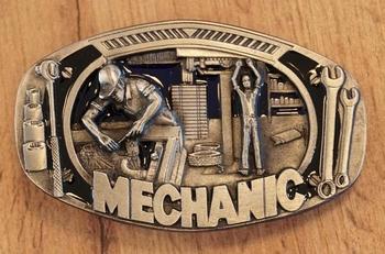 """Buckle """" Mechanic """"  UITVERKOCHT"""
