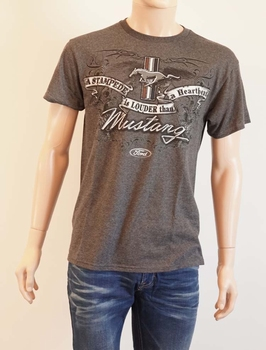 """T shirt  """" Ford Mustang a stampede is louder than a heartb """""""
