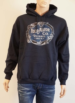 "Hoody  "" Ford ""  donker blauw"