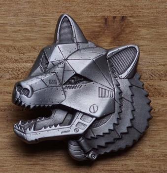 "Buckle / gesp  "" Robot wolf """