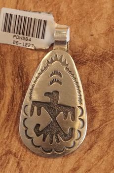 """Sterling zilveren indiaanse hanger """" Adelaar """""""