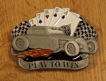 """Belt buckle  """" Play to win """""""
