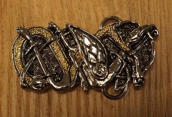 """Belt buckle  """" Keltische vogel """""""