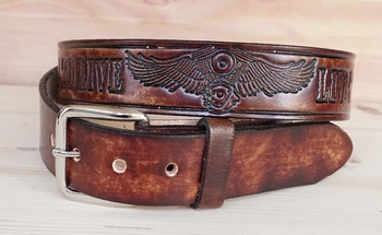 """Buckle riem  """" Ride to live  motorblok live to ride """" bruin"""