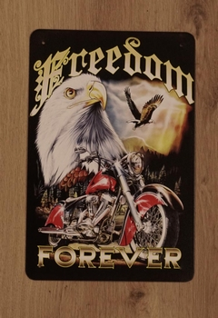 "Billboard  "" Freedom forever "" Adelaar + motor"