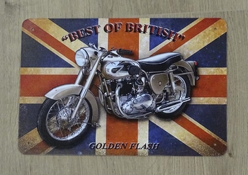 "Billboard "" Best of British gold flash ""  motor"