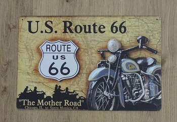 """Billboard """" U.S. Route 66 """" the mother road"""