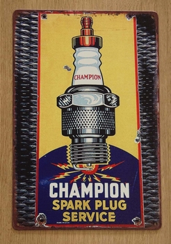 "Billboard "" Champion spark plug """