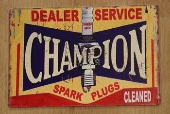 """Billboard """" Dealer service champion spark plug """""""