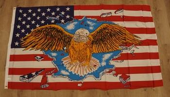 """Amerikaanse vlag  """" Adelaar met vleugels gespreid """""""