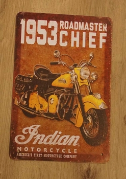 "Billboard "" 1953 roadmaster chief indian motorcycle """
