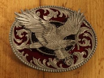 """Buckle  """" Adelaar + Amerikaanse vlag """""""