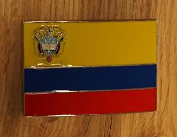 """Buckle / gesp  """" Vlag van Ecuador """""""