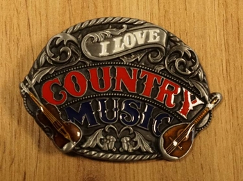"""Buckle """" I love country music """""""