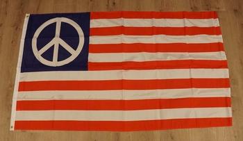 """Amerikaanse vlag  """" Peace teken """""""