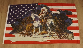 """Amerikaanse vlag  """" Indian Chief """""""