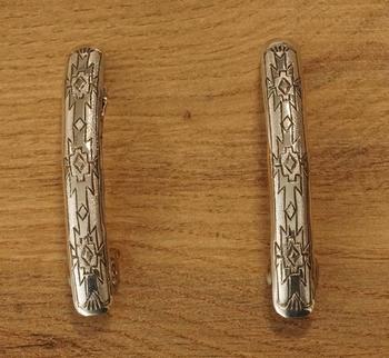 """2 Sterling zilveren haarclips """" Indiaanse siermotief """""""