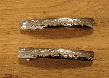 """2 Sterling zilveren indiaanse haarclip """" Sierwerk """""""