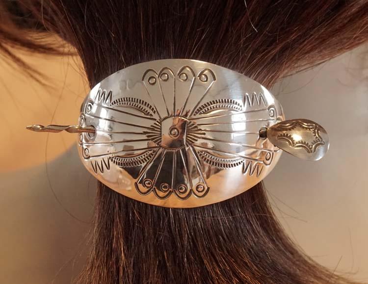 """925 zilveren haarspeld met haarstokje """" Indiaanse styl """""""