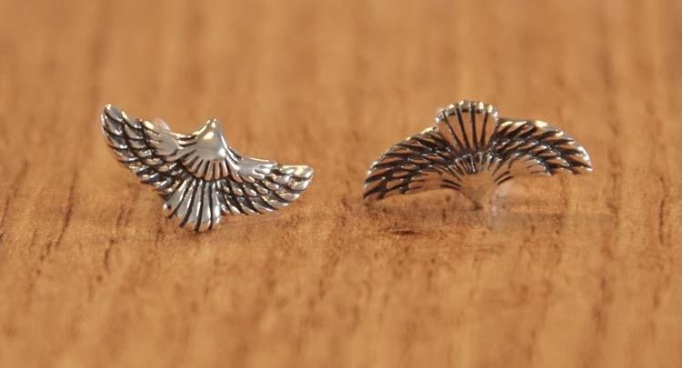 """925 zilveren oorknopjes  """" Adelaars """""""