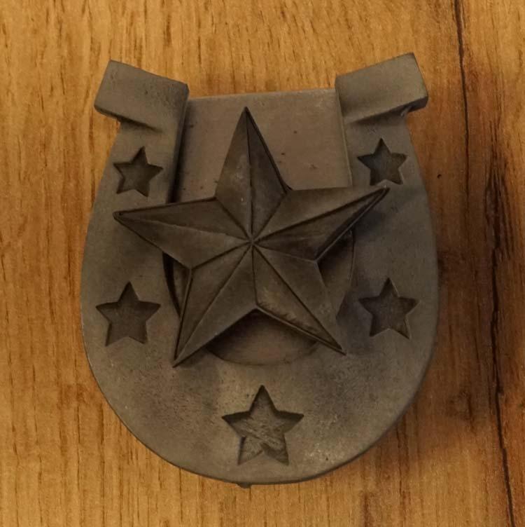 """Aansteker buckle """" Hoefijzer + texas star """""""