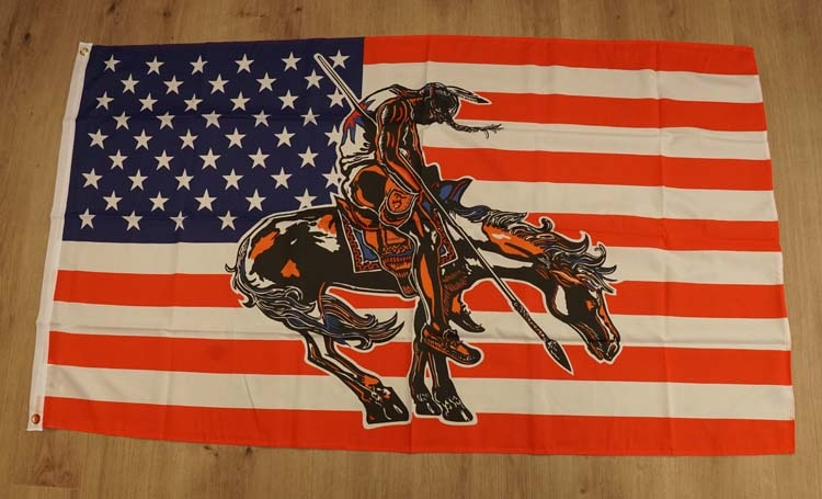 """Amerikaanse gevelvlag  """" End of the trail """""""