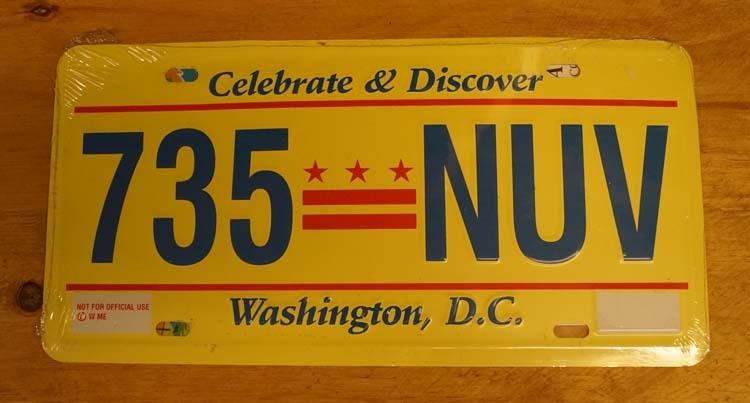 """Amerikaanse kentekenplaat """" 735 NW """" Washington"""