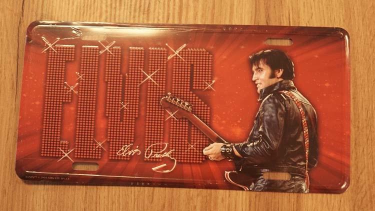"""Amerikaanse kentekenplaat """" Elvis Presley """""""