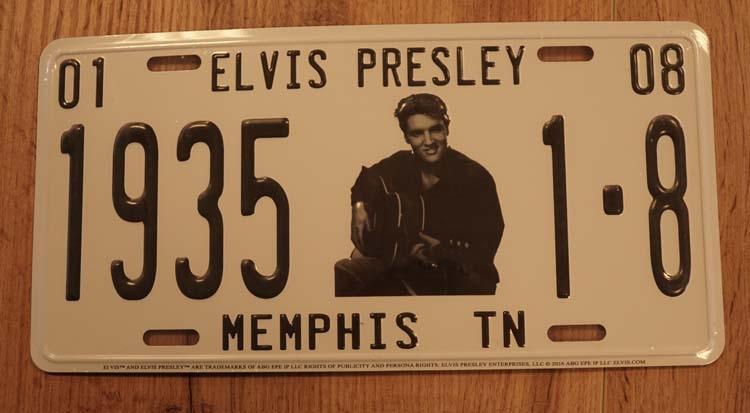 """Amerikaanse kentekenplaat """" Elvis Presley 1935 Memphis """""""