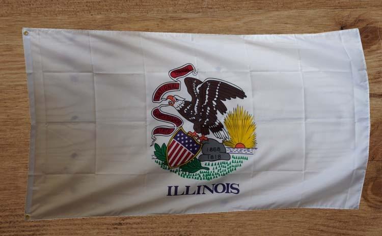 """Amerikaanse Staten gevelvlag  """" illonois  """""""