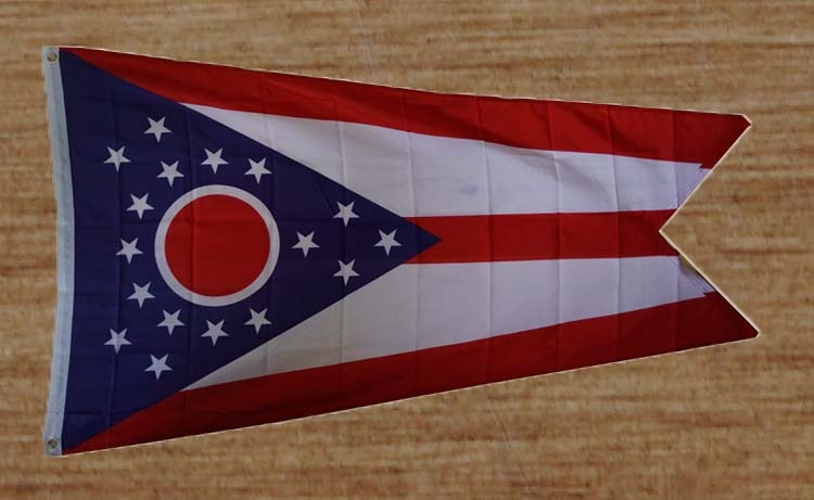 """Amerikaanse Staten gevelvlag  """" Ohio """"   UITVERKOCHT"""