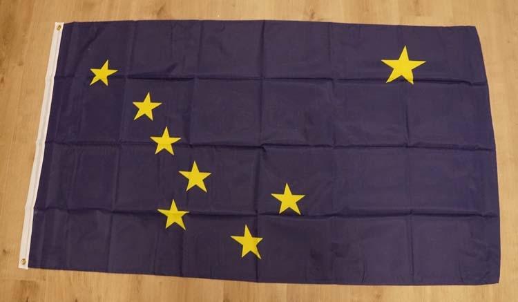 """Amerikaanse Staten vlag  """" Alaska """""""